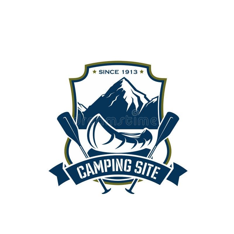 Vektorsymbol för campa platssportaffärsföretag stock illustrationer