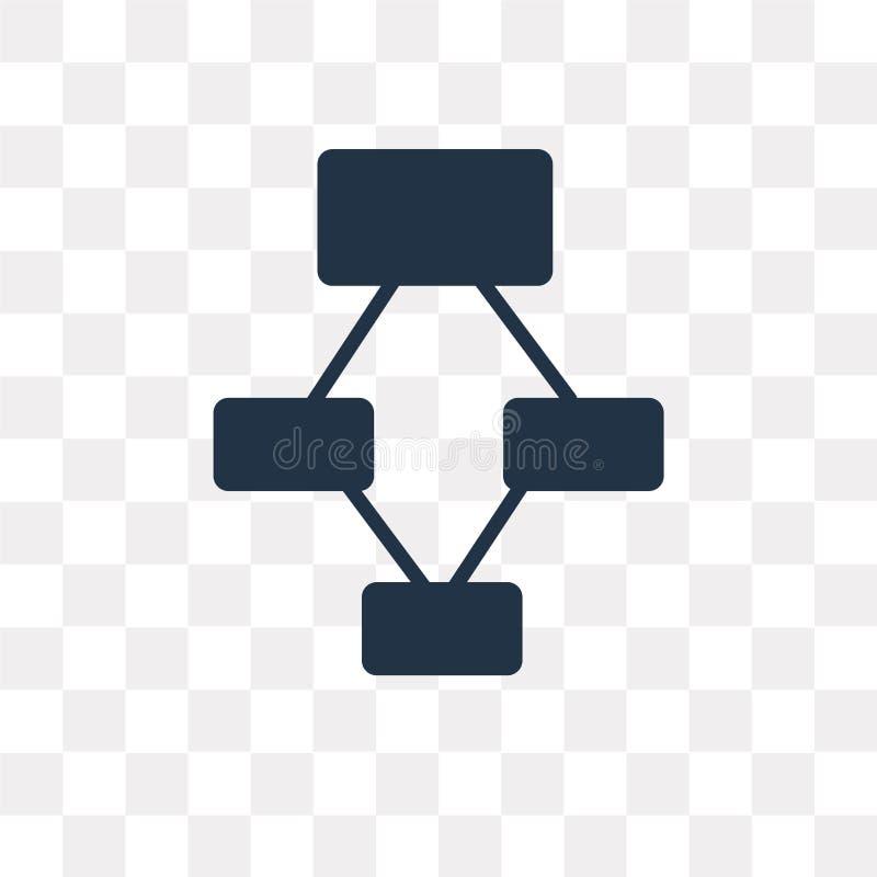 Vektorsymbol för hierarkisk struktur som isoleras på genomskinlig backg vektor illustrationer