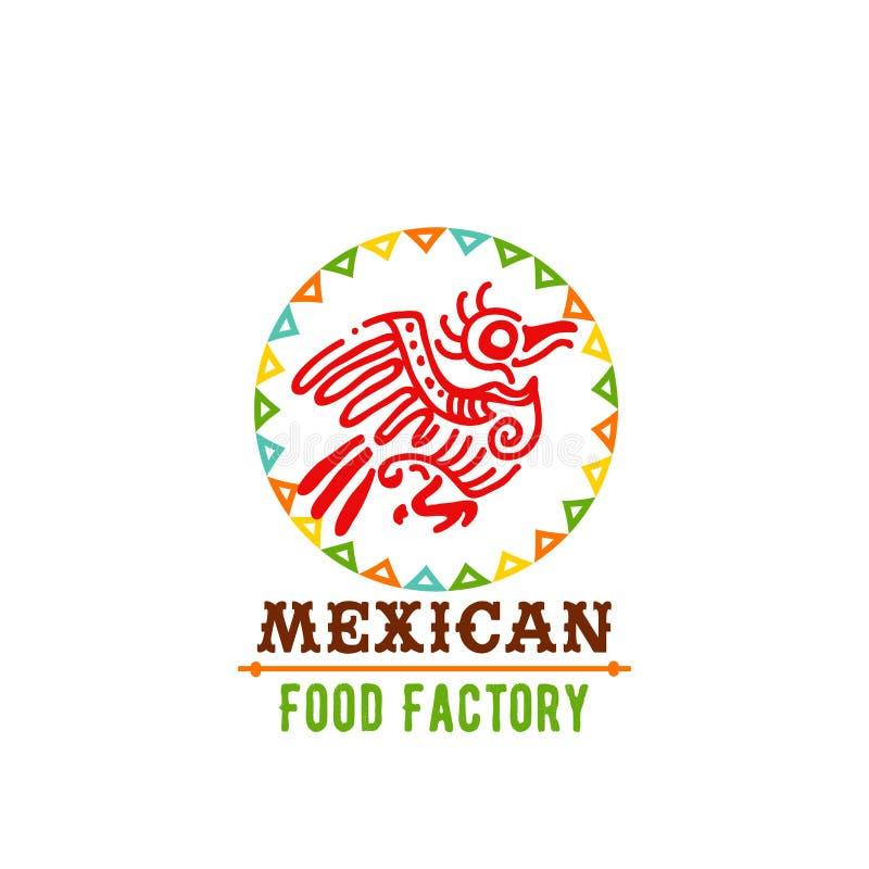 Vektorsymbol för mexicansk matkokkonst royaltyfri illustrationer