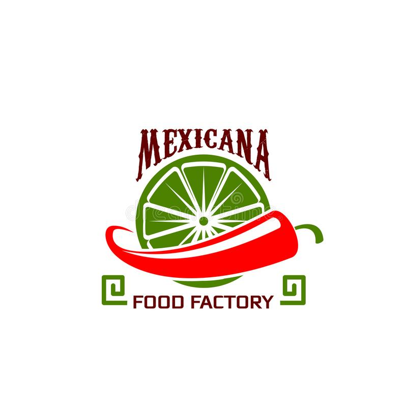 Vektorsymbol för mexicansk matrestaurang stock illustrationer