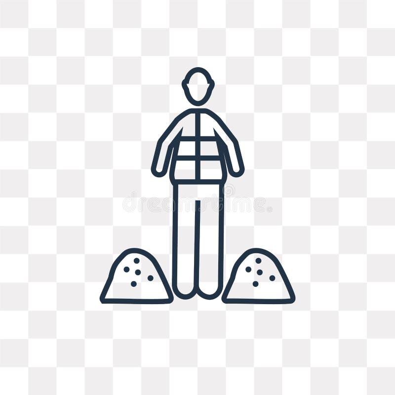 Vektorsymbol för offentligt arbete som isoleras på genomskinlig bakgrund, linje stock illustrationer