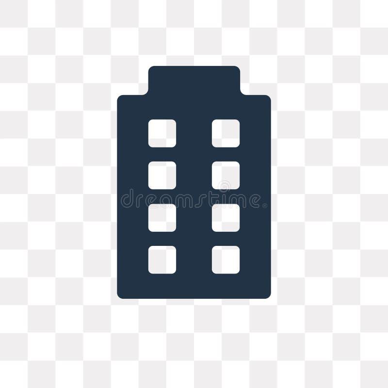 Vektorsymbol för stor byggnad som isoleras på genomskinlig bakgrund som är stor royaltyfri illustrationer