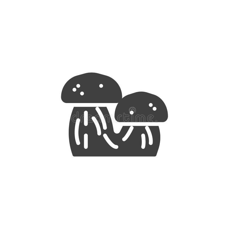 Vektorsymbol för två champinjoner stock illustrationer