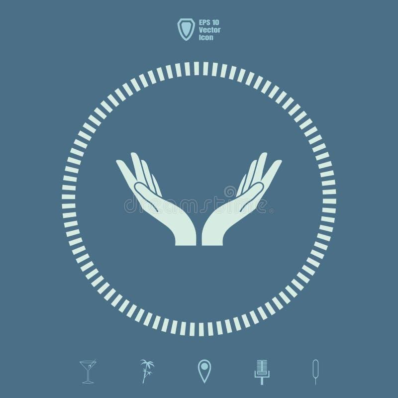 Vektorsymbol för två händer royaltyfri illustrationer