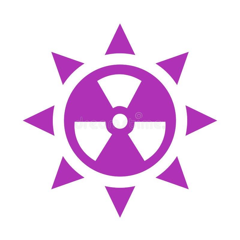 Vektorsymbol för ultraviolett utstrålning royaltyfri illustrationer