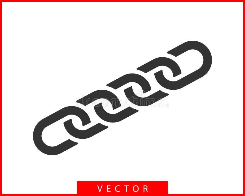 Vektorsymbol f?r Chain sammanl?nkning Plan design för Chainlet beståndsdel Begreppsanslutningssymbol som isoleras på vit bakgrund royaltyfri illustrationer