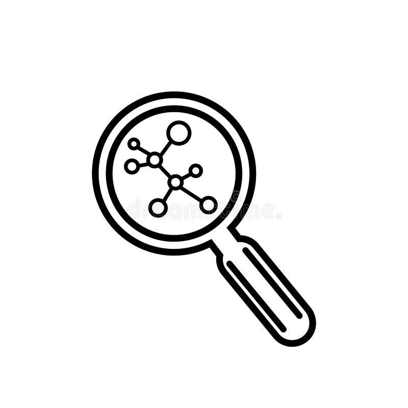 Vektorsymbol f?r vetenskaplig forskning vektor illustrationer