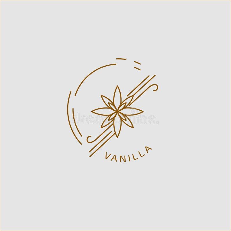 Vektorsymbol och logo för kryddor och örter royaltyfri illustrationer