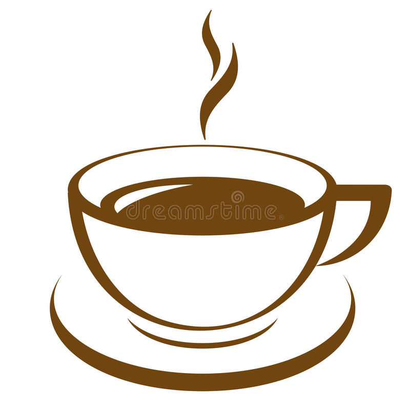 Kaffe kuper stock illustrationer