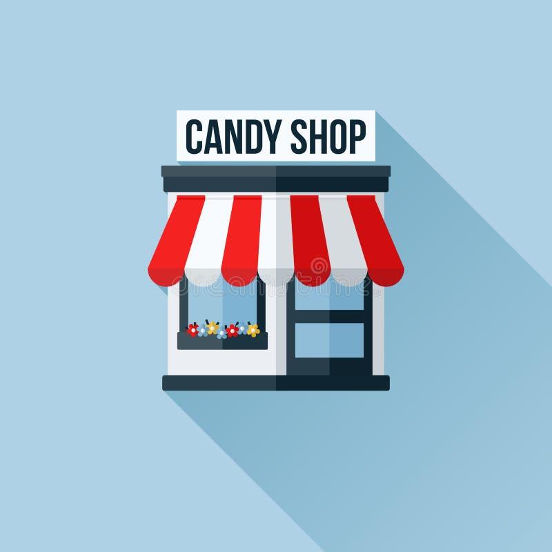 Vektorsymbolen av stilfullt shoppar eller lagrar eller boutique stock illustrationer