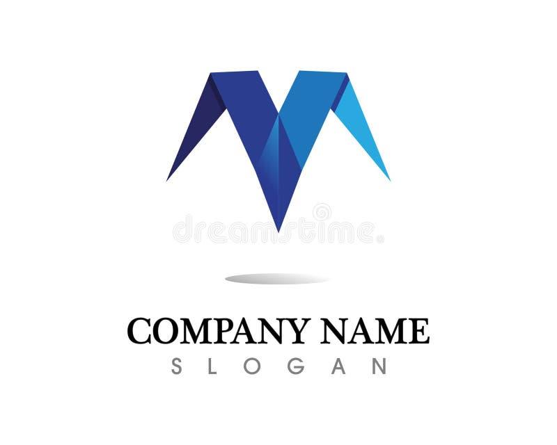 Vektorsymboler för bokstav M sådana logoer stock illustrationer