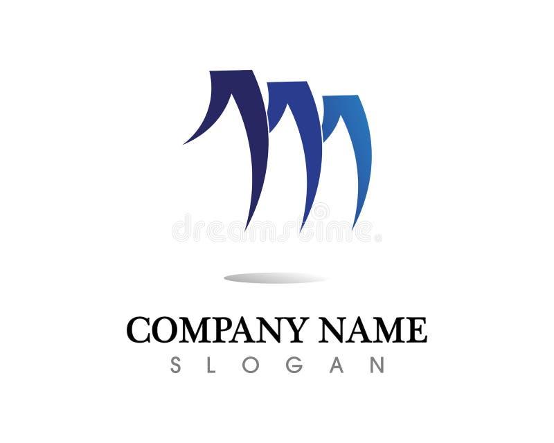 Vektorsymboler för bokstav M sådana logoer royaltyfri illustrationer