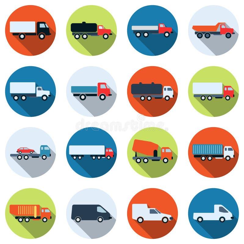 Vektorsymboler för lastbil och för special avsikt bil vektor illustrationer