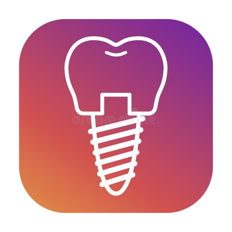 Vektorsymboler för tand- kliniker, ortodonti stock illustrationer