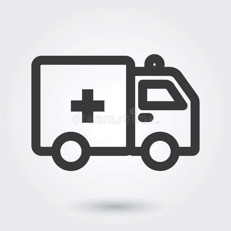Vektorsymboler, medicinsk symbol för ambulans fyllde linjen för några avsikter vektor illustrationer
