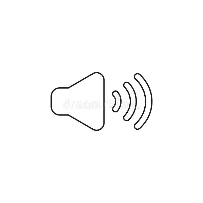 Vektorsymbolsbegrepp av ljudet på Svartöversikter stock illustrationer