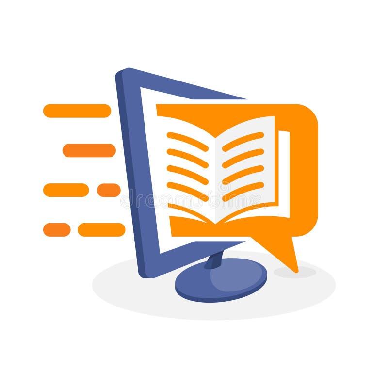 Vektorsymbolsillustration med digitalt massmediabegrepp om läs- information vektor illustrationer