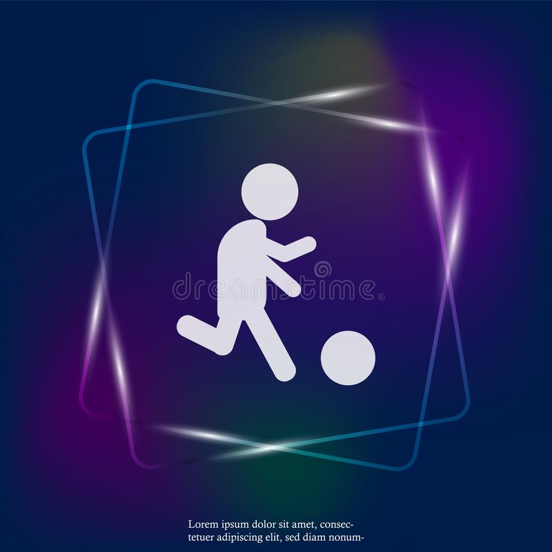Vektorsymbolsman som spelar bollen ball player soccer Neo fotbollsspelare royaltyfri illustrationer