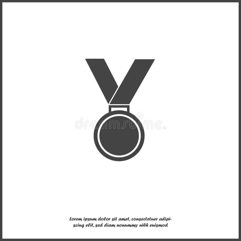 Vektorsymbolsmedalj Medalj av heder, lyckönskan på vit isolerad bakgrund Lager som grupperas för lätt redigerande illustration vektor illustrationer