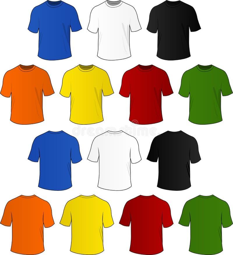 Vektort-skjortor vektor illustrationer