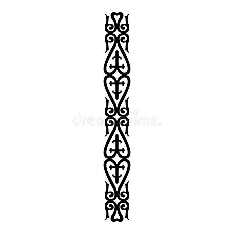Vektortappningdekor; utsmyckad sömlös gräns för designmall vektor illustrationer