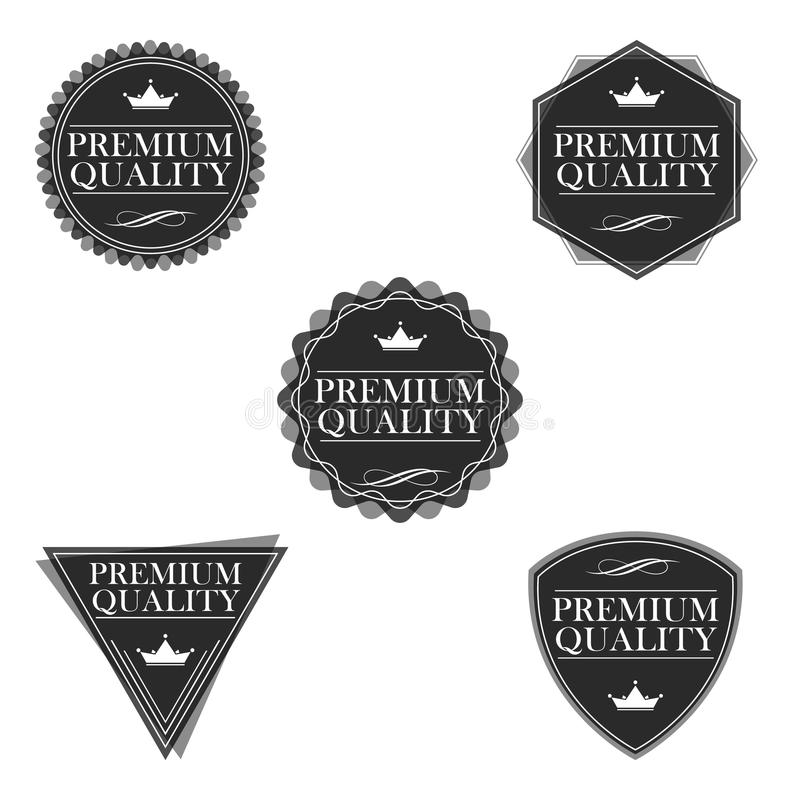 Vektortappningklistermärke royaltyfri illustrationer
