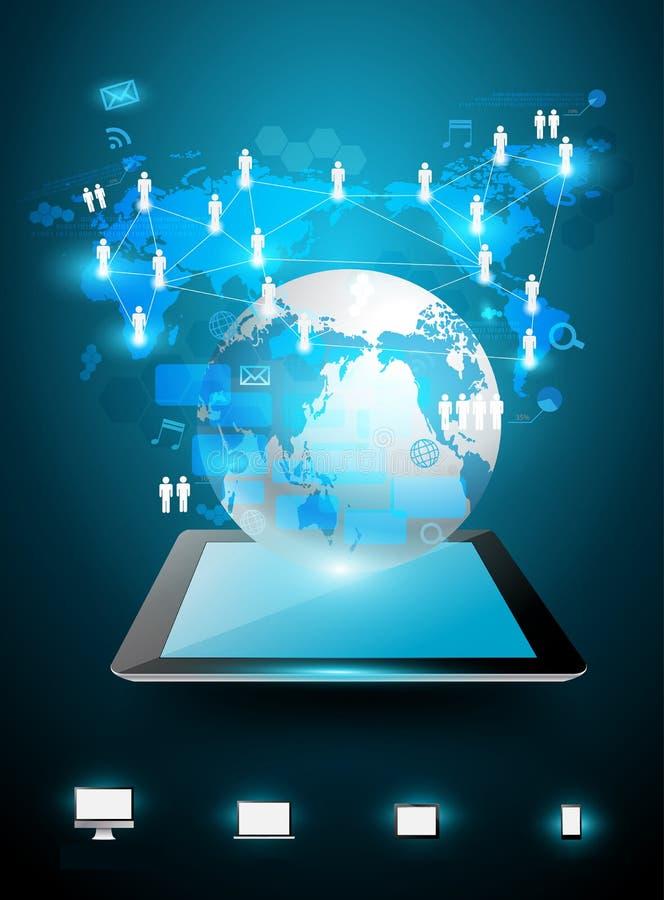 Vektortechnologiegeschäfts-Ideenkonzept lizenzfreie abbildung