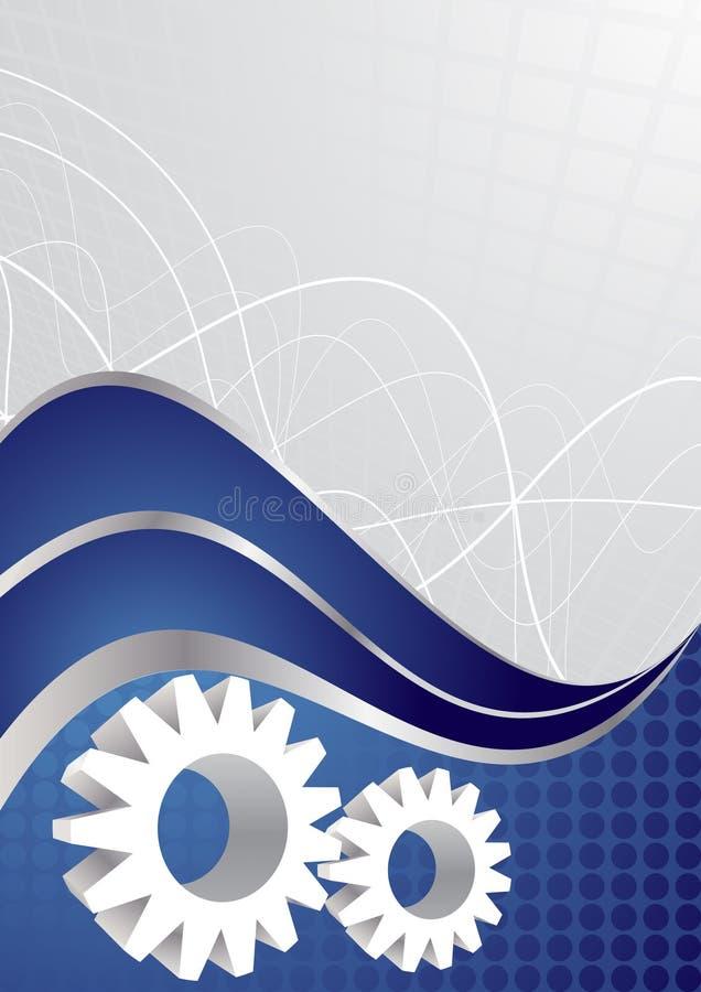 VektorTechnologiehintergrund lizenzfreie abbildung