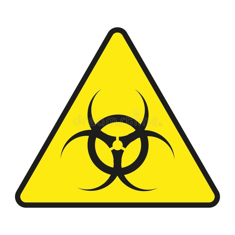 Vektorteckengift Isolerat teckengift Symbolvarningsgift Kärn- tecken vektor för ingreppsutstrålningstecken stock illustrationer