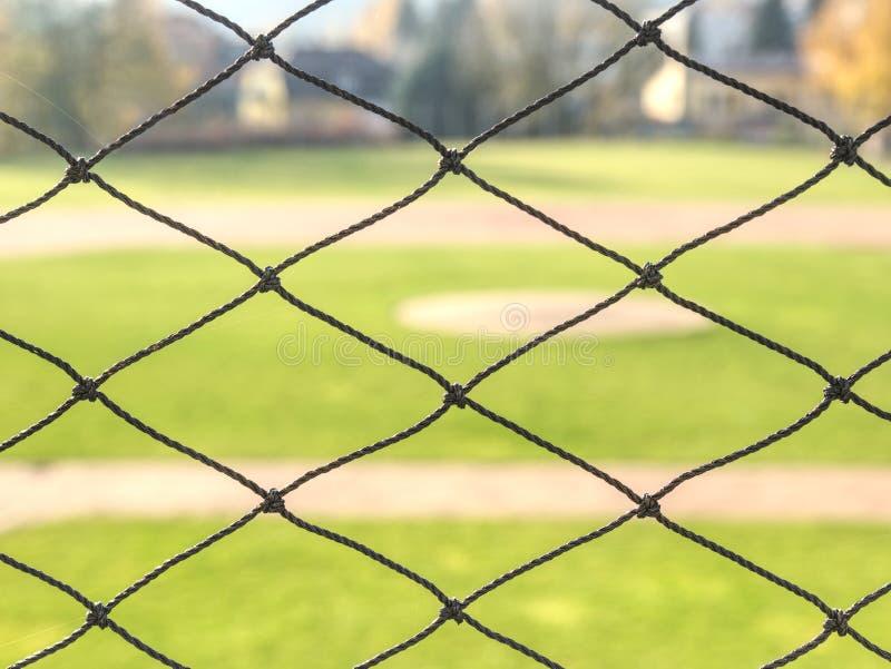 Vektortecknad filmbakgrund Grönt gräs på baseballfält arkivbild