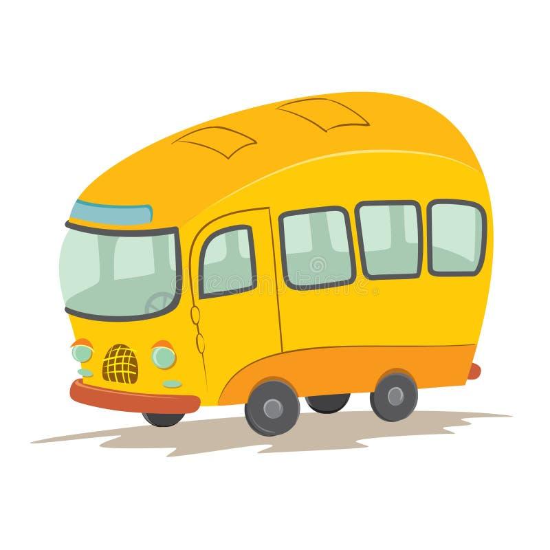 Vektortecknad filmbuss vektor illustrationer
