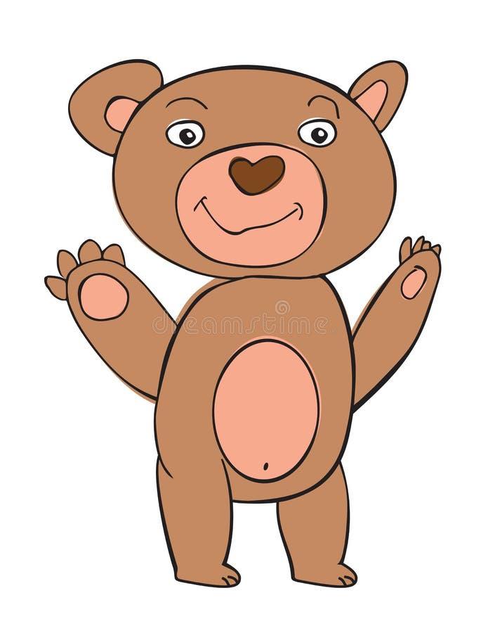 Vektortecknad filmdjur Sött lite björn royaltyfri illustrationer