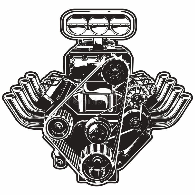 Vektortecknad filmTurbo motor royaltyfri illustrationer
