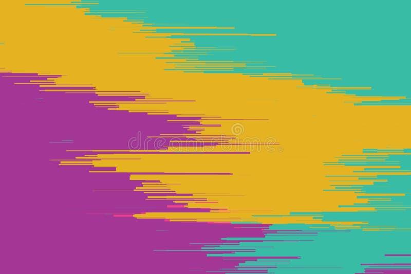 Vektortekniskt felbakgrund Distorsion för data för Digital bild Färgrik abstrakt bakgrund för dina designer Kaosestetik stock illustrationer