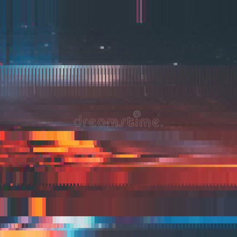 Vektortekniskt felbakgrund Distorsion för data för Digital bild Färgrik abstrakt bakgrund för dina designer vektor illustrationer