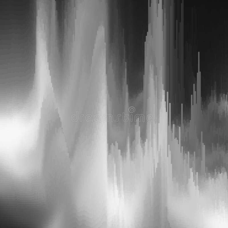 Vektortekniskt felbakgrund Distorsion för data för Digital bild Färgrik abstrakt bakgrund för dina designer royaltyfri illustrationer