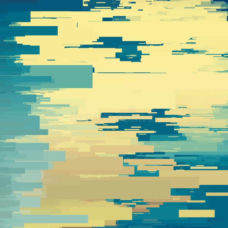 Vektortekniskt felbakgrund Distorsion för data för Digital bild Färgrik abstrakt bakgrund för dina designer stock illustrationer