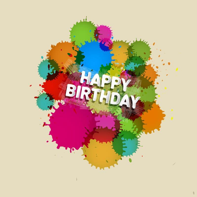 Vektortema för lycklig födelsedag stock illustrationer