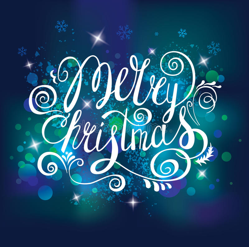 Vektortext för glad jul vektor illustrationer