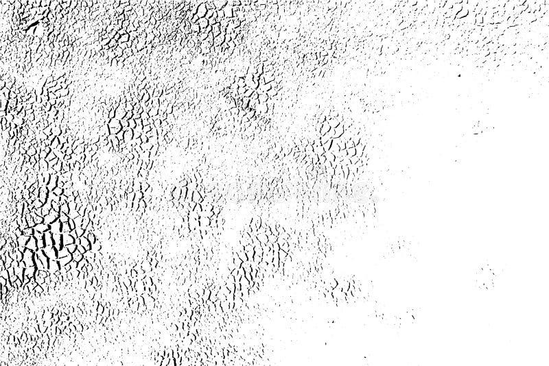 Vektortextur, grungeyttersida Abstrakt bakgrund, skadad asfaltväg royaltyfri illustrationer