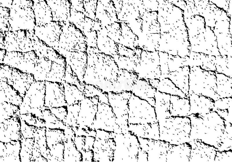 Vektortextur med grained sprickor stock illustrationer