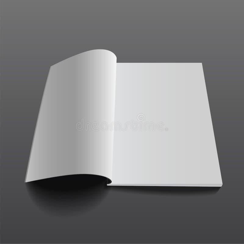 Vektortidskrift mockup7 stock illustrationer