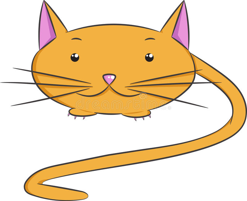 Vektortiere, Katze lizenzfreies stockbild