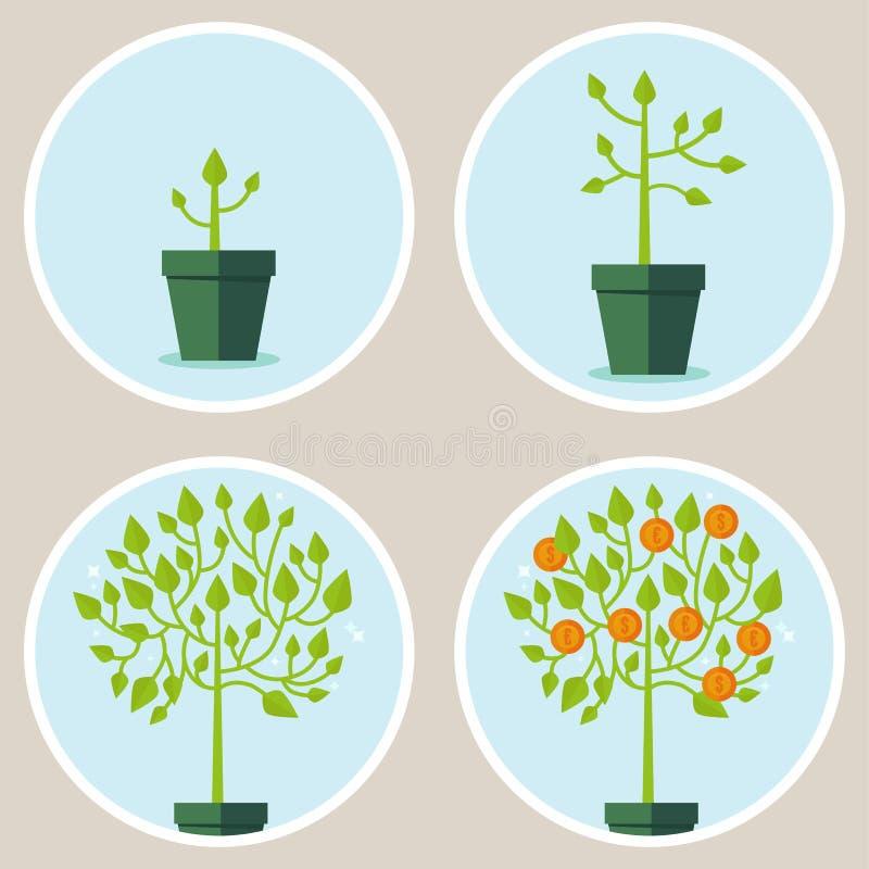 Vektortillväxtbegrepp vektor illustrationer