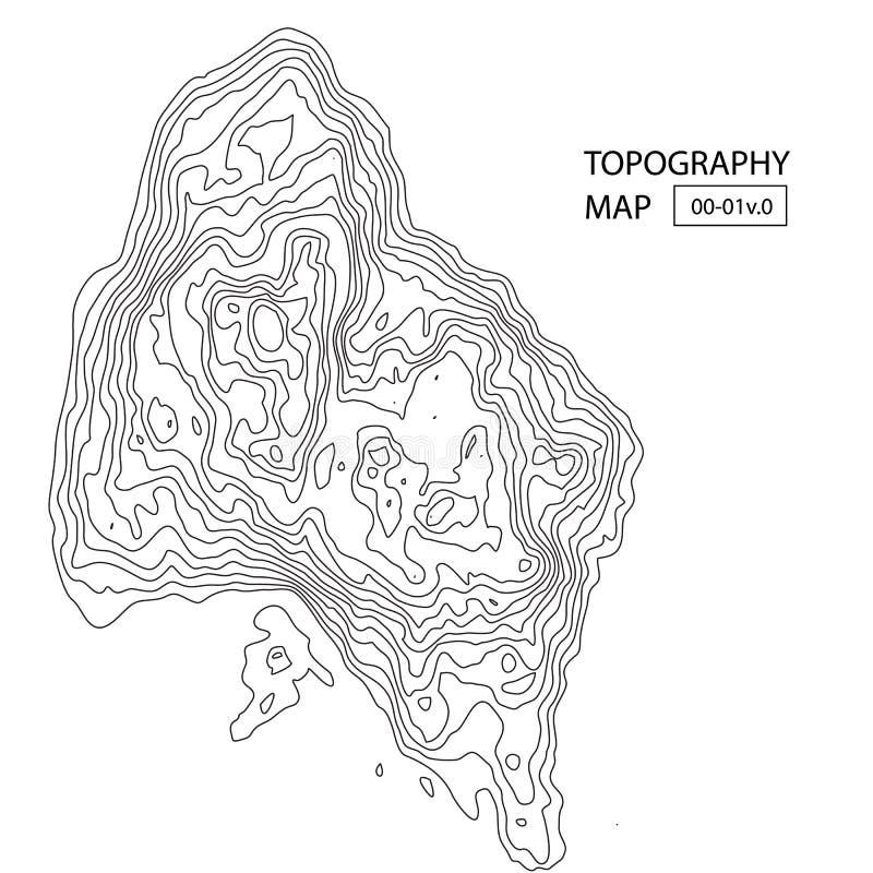 Vektortopografiöversikt stock illustrationer