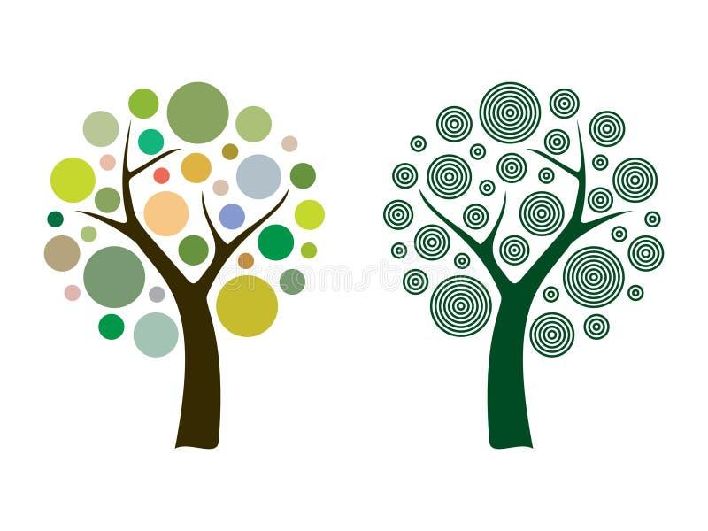 Vektorträd vektor illustrationer