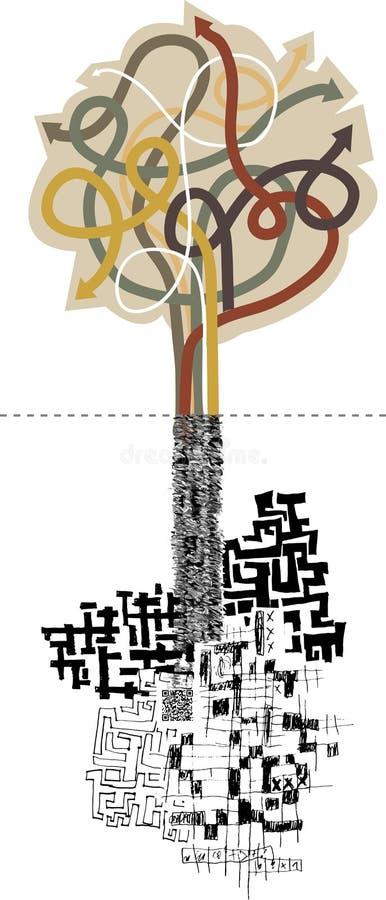 Vektorträd av pilar i stil av infographicsen vektor illustrationer