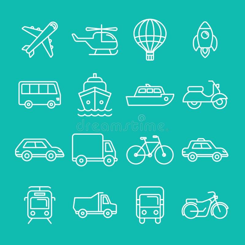 Vektortrans.symboler och tecken royaltyfri illustrationer