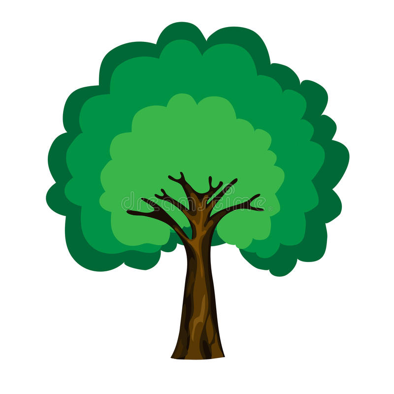 Vektortree royaltyfri illustrationer