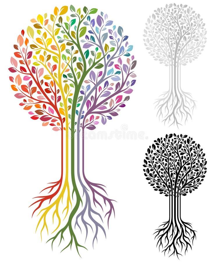 Vektortree stock illustrationer